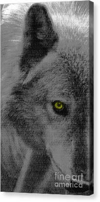 Canvas Print featuring the mixed media Look Into My Eye by Debra     Vatalaro