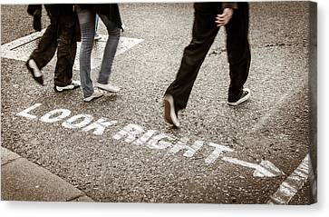 Look Right Canvas Print by Michael Weber