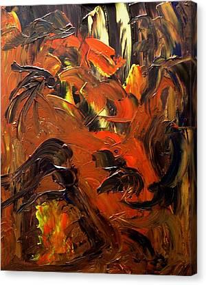 Look To Heaven Through The Heart Canvas Print by Karen L Christophersen