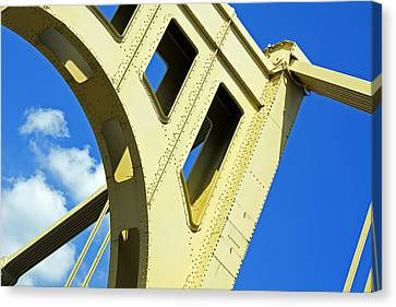 Look Up Pittsburgh Pa Canvas Print by Kristen Vota