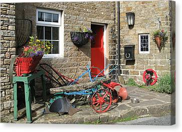 Looking At A Old Stone House Canvas Print by Joyce Woodhouse