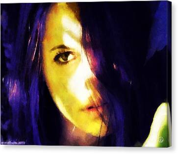 Canvas Print featuring the digital art Looking At The World With One Eye Is Enough by Gun Legler
