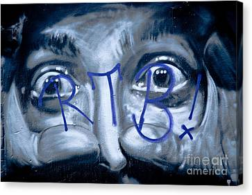 Canvas Print featuring the painting Looking At You by Yurix Sardinelly