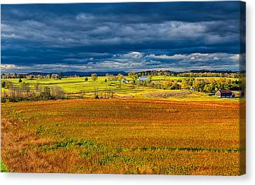Civil War Battle Site Canvas Print - Looking Back At Antietam by John M Bailey