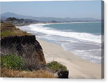 Looking Back At Half Moon Bay From The North Canvas Print by Carolyn Donnell