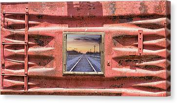 Canvas Print featuring the photograph Looking Back by James BO Insogna