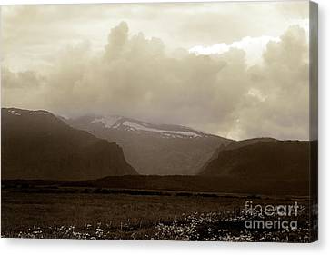 Canvas Print featuring the photograph Looking Back by Thomas Bomstad