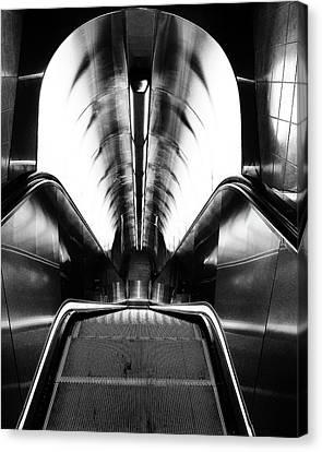Looking Down - Escalator Canvas Print
