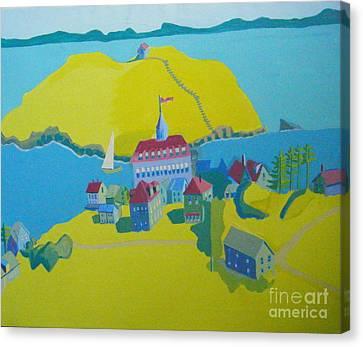 Looking Down On Monhegan And Manana Islands Canvas Print by Debra Bretton Robinson