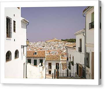 Looking Down Over Antequera  From Near The Church Of Santa Maria La Mayor  Canvas Print by Mal Bray