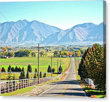Looking East From West Mountain Canvas Print