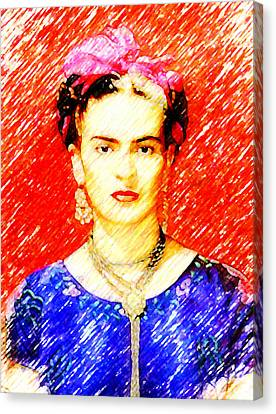 Looking For Frida Kahlo Canvas Print