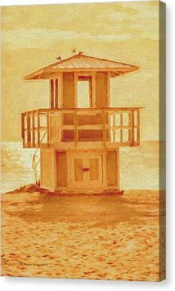 Sea Watch Canvas Print - Looking For Summer by Marvin Spates