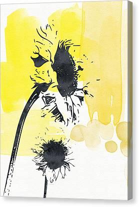 Looking Forward- Art By Linda Woods Canvas Print by Linda Woods