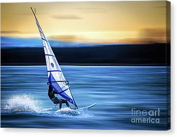 Canvas Print featuring the photograph Looking Forward by Hannes Cmarits