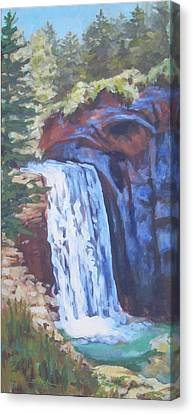Looking Glass Falls Canvas Print by Carol Strickland