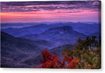 Smokey Mountains Canvas Print - Looking Glass Rock Cloudy Day Sunrise Art by Reid Callaway