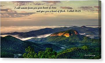 Looking Glass Rock Scripture Art Canvas Print