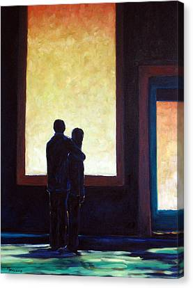 Looking In Looking Out Canvas Print by Richard T Pranke