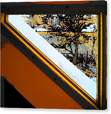 Looking Out My Brothers Window Canvas Print by Lenore Senior