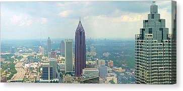 Canvas Print featuring the photograph Looking Out Over Atlanta by Mike McGlothlen
