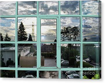 Canvas Print featuring the photograph Looking Out The Window by Bill Thomson