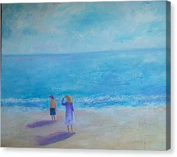 Looking Out To Sea Canvas Print