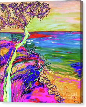 Italian Landscape Canvas Print - Looking Out To Sea by Loredana Messina