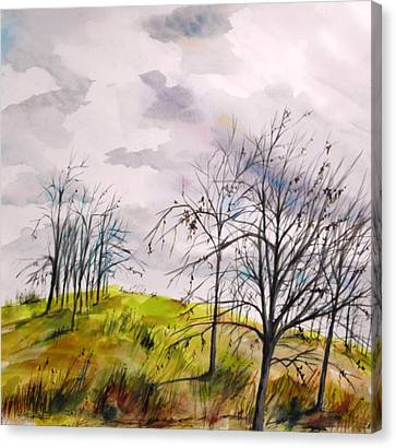 Canvas Print featuring the painting Looking Past To The Changing Sky by John Williams