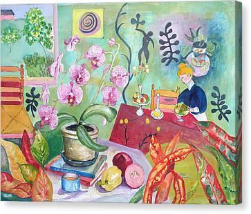 Looking Through Matisse's Window Canvas Print by Elizabeth Ferris