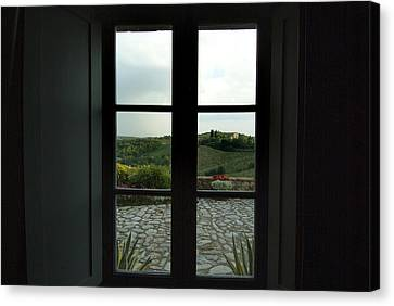 Looking Through The Window Of A Tuscan Canvas Print by Todd Gipstein