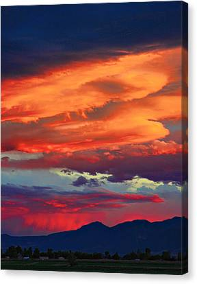 Looking To Boulder Canvas Print by James BO  Insogna
