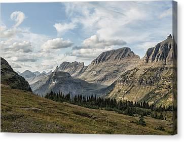 Looking Towards Bishops Cap And Mt Gould - Glacier Np Canvas Print