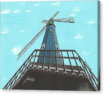 Looking Up At A Windmill Canvas Print