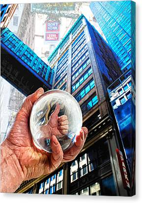 Looking Up In Ny 2 Canvas Print by Rick Mosher