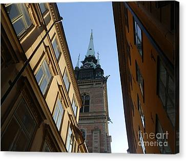 Looking Up From A Stockholm Street Canvas Print