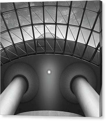 Skylight Canvas Print - Looking Up by Mike McGlothlen