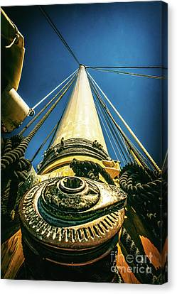 Looking Up The Mast Canvas Print by Nick Zelinsky