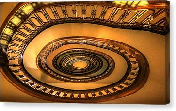 Looking Up The Ponce Stairway Atlanta Georgia Canvas Print by Reid Callaway
