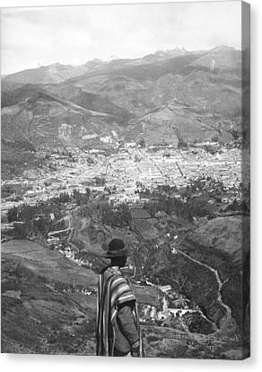 Looking West Over Quito Canvas Print