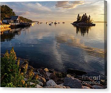 Lookout Point, Harpswell, Maine  -99044-990477 Canvas Print by John Bald