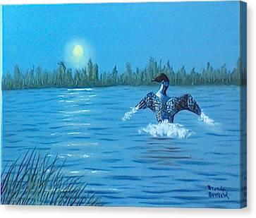 Loon Dance Canvas Print