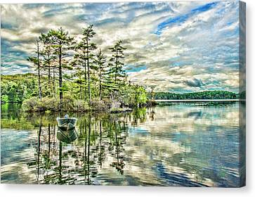 Loon Island Canvas Print by Daniel Hebard