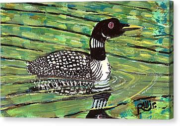 Loon Canvas Print by Robert Wolverton Jr