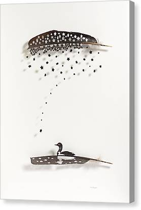 Loon Star Canvas Print by Chris Maynard