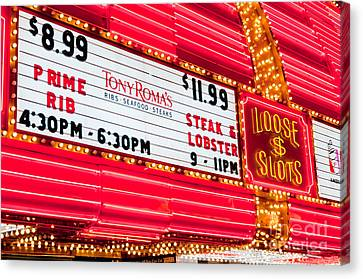 Loose Slots Canvas Print by Andy Smy