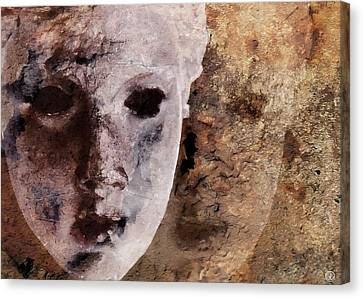Hiding Canvas Print - Loosing The Real You Behind The Mask by Gun Legler