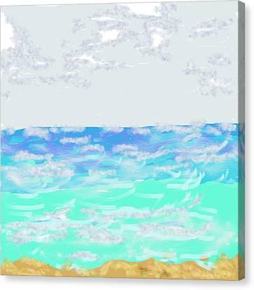 Loquillo Beach Oceanscape Canvas Print by Dotti Hannum