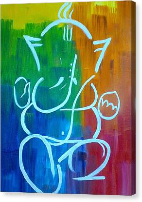 Lord Ganesh Canvas Print by Puja Chakravarty