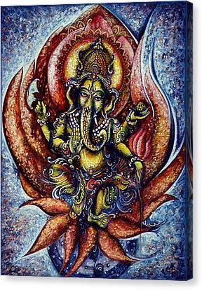 Lord Ganesha 1 Canvas Print by Harsh Malik